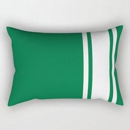 Green Racer Rectangular Pillow
