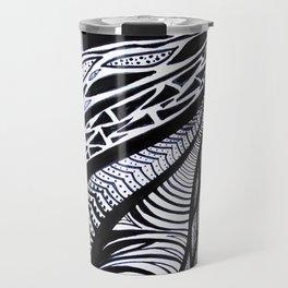 Gaia's Garden in Black & White 3 Travel Mug