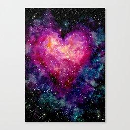 Valentine Galaxy Heart 04 Canvas Print