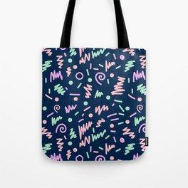 Zola - bright happy fun pattern navy blue pastel shapes charlotte winter Tote Bag