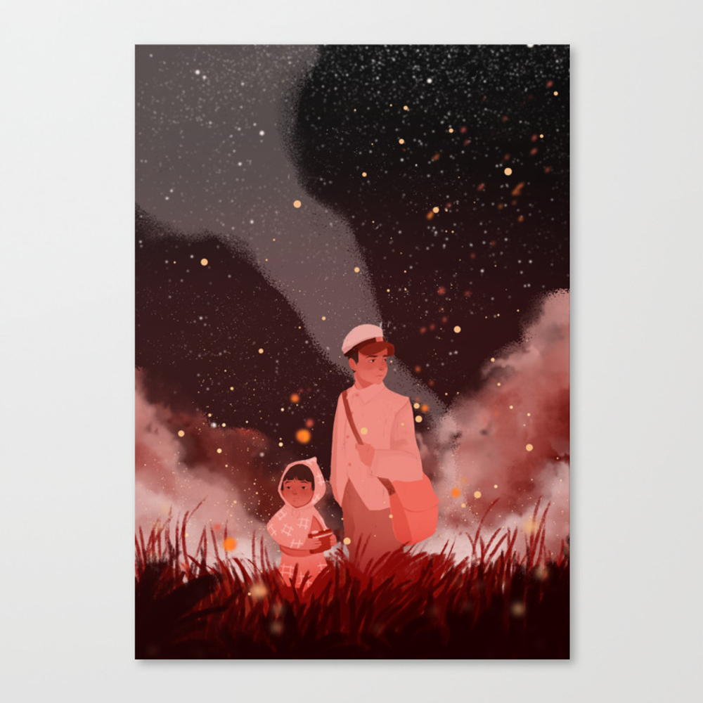 Grave Of The Fireflies Canvas Print by Violettobacco CNV8960522