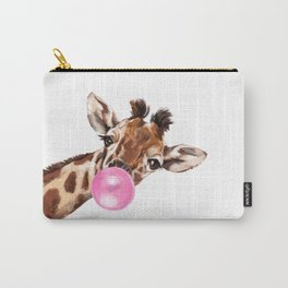 Bubble Gum Sneaky Giraffee Carry-All Pouch