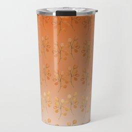 """Cactus flowers in soft orange"" Travel Mug"