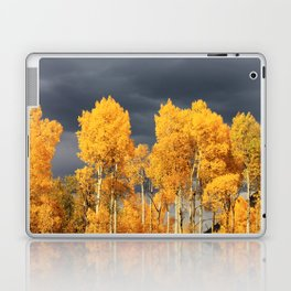 Golden Aspens and an Impending Storm Laptop & iPad Skin