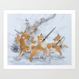 Cry Heckin' and Let Slip the Doges of War Art Print