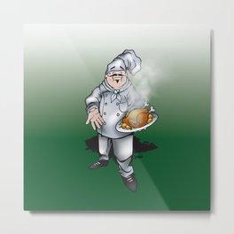 Chef Metal Print
