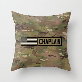 Chaplain (Camo) Throw Pillow