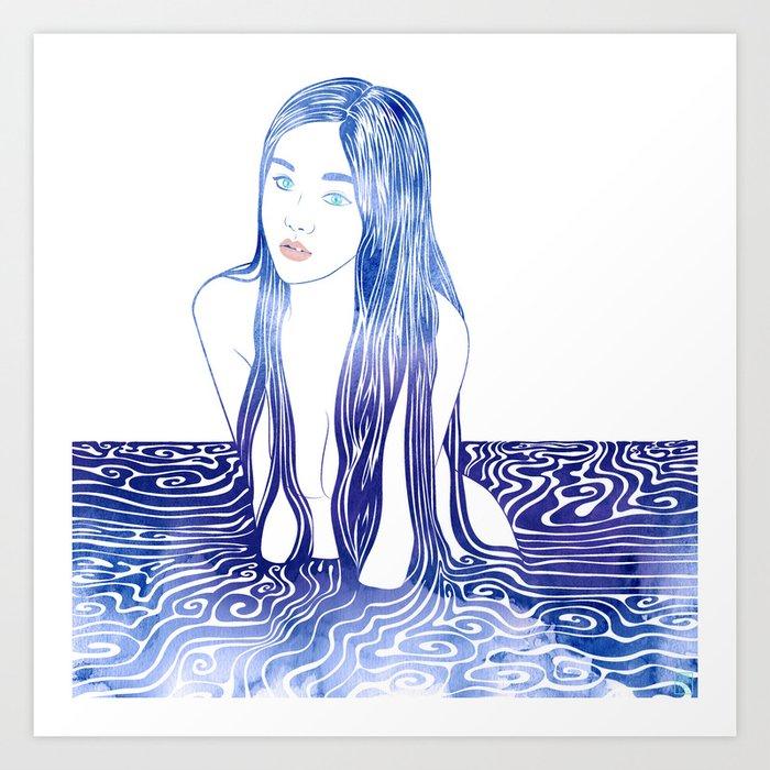 Water Nymph L Art Print