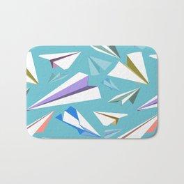 Aeroplanes - Paper Airplanes Pattern Bath Mat