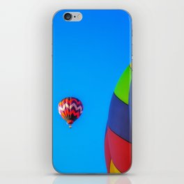 Flying Away hot air balloons iPhone Skin
