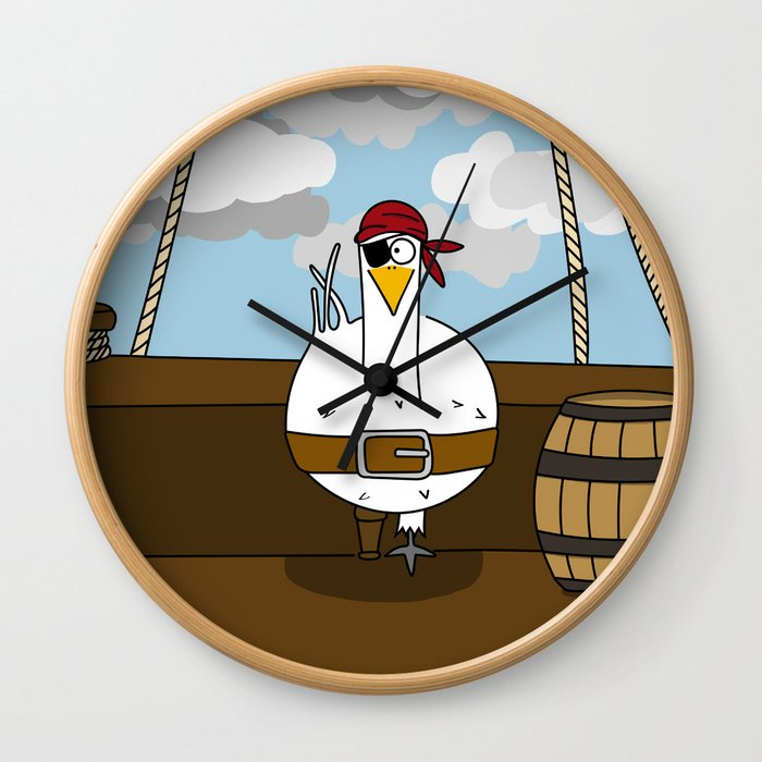Eglantine la poule (the hen) disguised as a pirate. Wall Clock