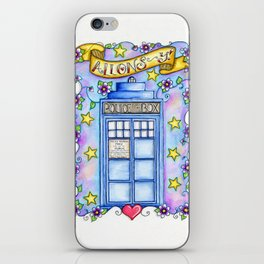 Doctor Who TARDIS Allons-y! iPhone Skin