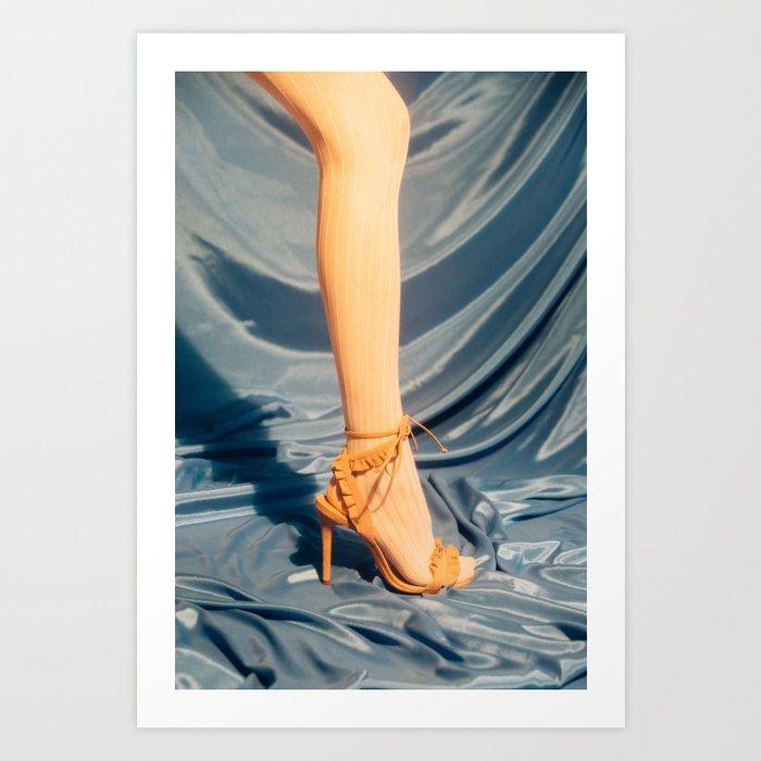 Stocking and High Heel Art Print