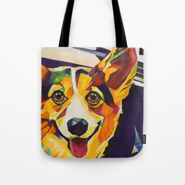 Pop Art Corgi Tote Bag