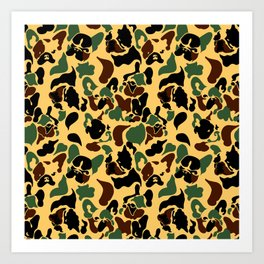 Frenchie Camouflage Art Print