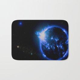 Blue Galaxy Star Bath Mat