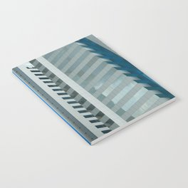 Dynamic Blue Lines Notebook