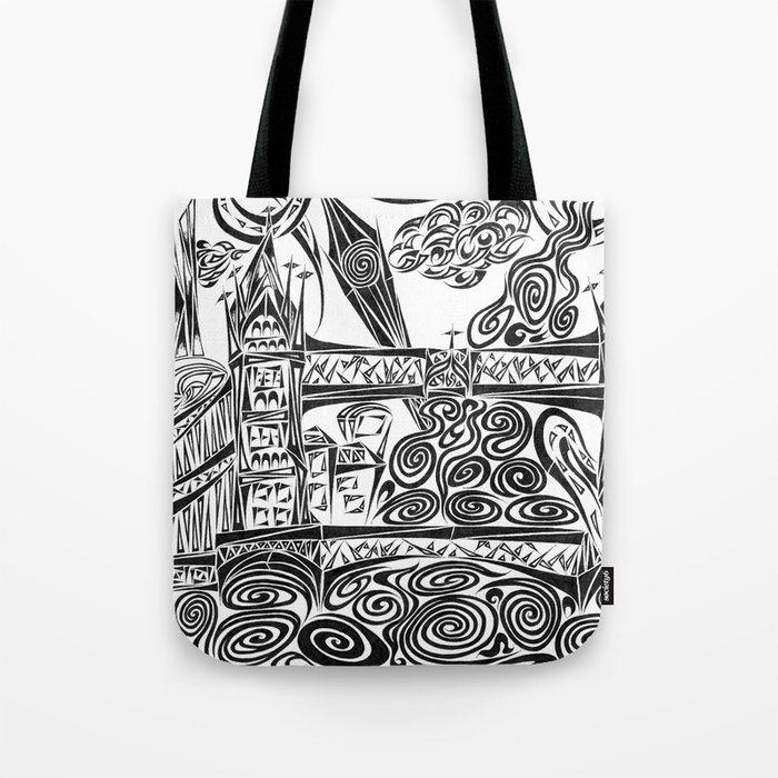 Jumbled London Tote Bag