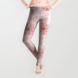 Rose quartz mandala Leggings