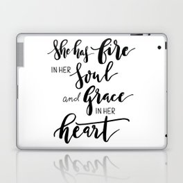 She has fire in soul and grace in her heart Laptop & iPad Skin
