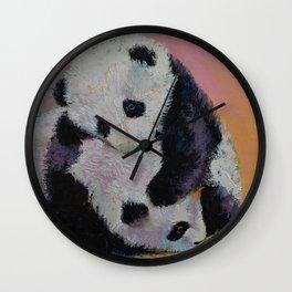 Baby Panda Rumble Wall Clock