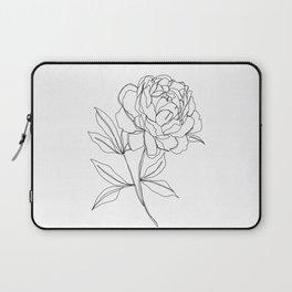 Botanical illustration line drawing - Peony Laptop Sleeve