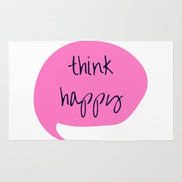 THINK HAPPY PINK BUBBLE Rug