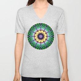 Bright flower mandala Unisex V-Neck