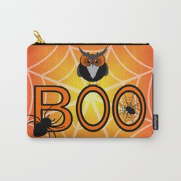 Boo, says the owl. It's Halloween! Carry-All Pouch