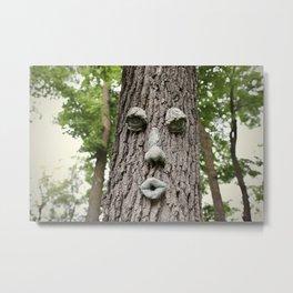 The Tree is Watching Metal Print