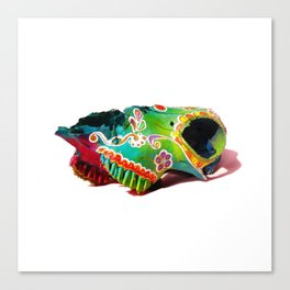 Colorsfull sheep skull Canvas Print