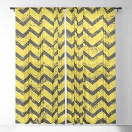 CHEVRON HONEY Sheer Curtain