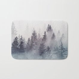 Winter Wonderland - Stormy weather Bath Mat