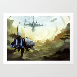 The orbital station Art Print