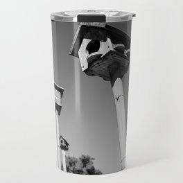 Birdhouses on stilts Travel Mug
