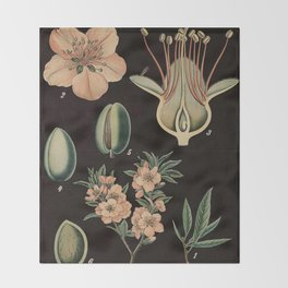 Botanical Almond Throw Blanket