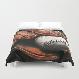Baseball and Glove Duvet Cover