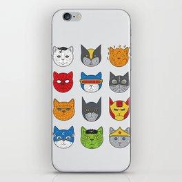 Super Cats iPhone Skin