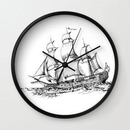 sailing ship . art ( https://society6.com/vickonskey/collection ) Wall Clock