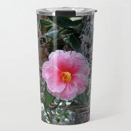 Southern Pink Camellia Travel Mug