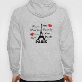 Paris text design illustration 2 Hoody