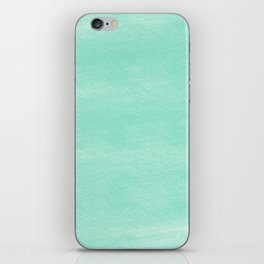 Chalky background - aqua iPhone Skin