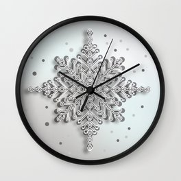 snow crystal Papercut Wall Clock