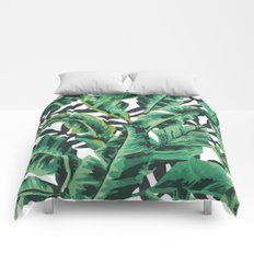 Tropical Glam Banana Leaf Print Comforters