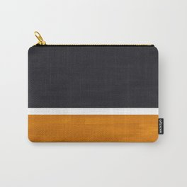 Black Yellow Ochre Rothko Minimalist Mid Century Abstract Color Field Squares Carry-All Pouch