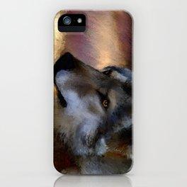 autumn wolf iPhone Case