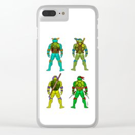 Superhero Butts - Turtles Clear iPhone Case
