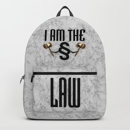 I am the law / 3D render of section sign holding judges gavels Backpack