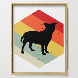 Red Staffordshire Bull Terrier graphic For Dog Lovers Cute Dog Serving Tray