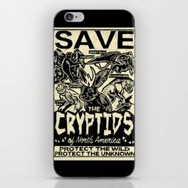 SAVE THE CRYPTIDS iPhone Skin